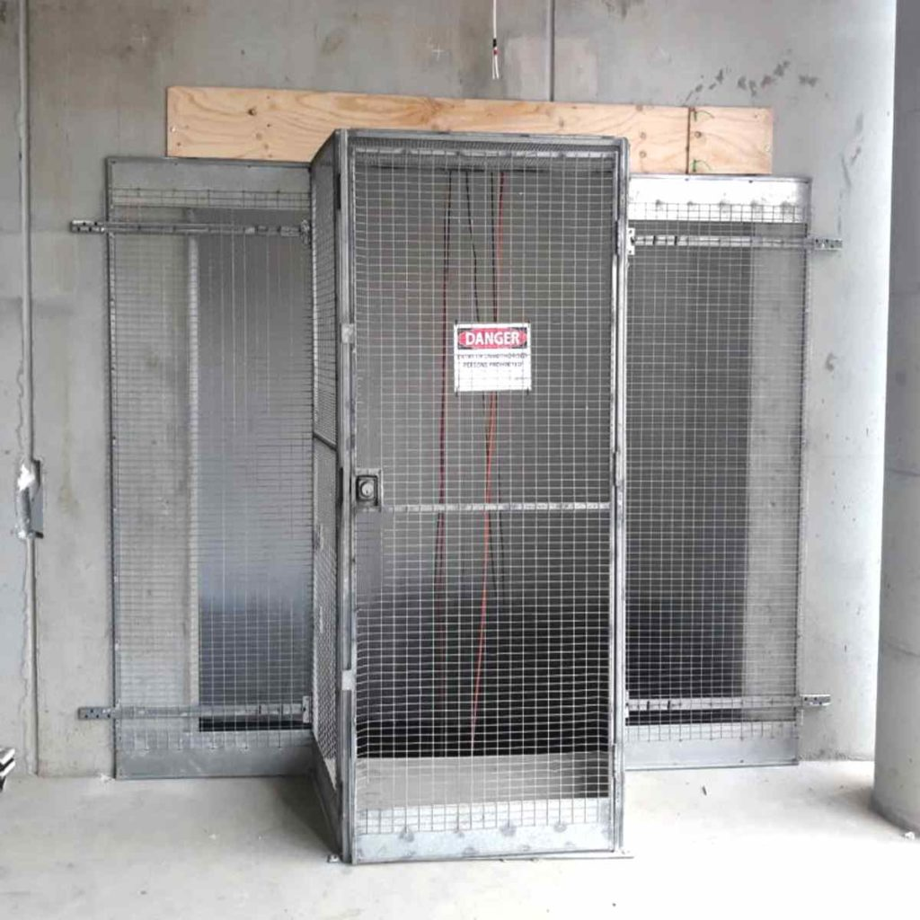 Oversized shaft opening requiring gate extensions