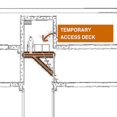 Temporary Access Deck